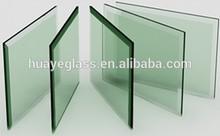 6mm, 8mm, 10mm, 12mm, 14mm, 15mm bâtiment clair en verre trempé de salle de bains porte et balustrade en verre trempé clair