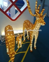 acrílico decoración al aire libre impermeable navidad alce decoraciones al aire libre de acrílico de renos