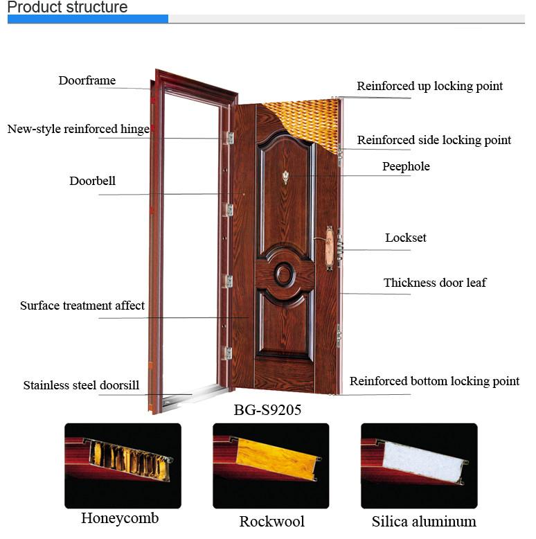 Jk S9026 Lowes Wrought Iron Security Doors Used Exterior Doors For Sale Indian Main Door