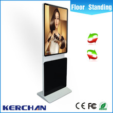 China advertising supplier 42 inch rotating mobile board stand indoor digital network digital signage player