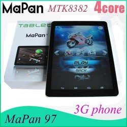 cheap tablets 9.7 inch mtk8382 quad core 1gb ram 16gb rom big screen mapan android phone