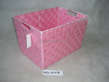 Cheap handmade pe woven basket