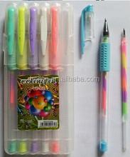 Rainbow Plastic Gel Ink Pen
