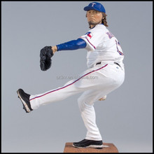 12 inch lifelike plastic baseball player toy,OEM plastic baseball player toy,customized baseball player with glove.