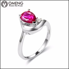Fashion Style Fake Gemstone Rings With 3A Zircon For Wholesale