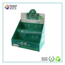 Breve prático indicação do contador de papelão display de para goma de mascar