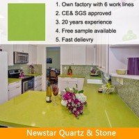 Apple green laminate quartz countertop