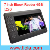 """7"""" inch E-book Reader with TFT LCD Factory OEM D20"""