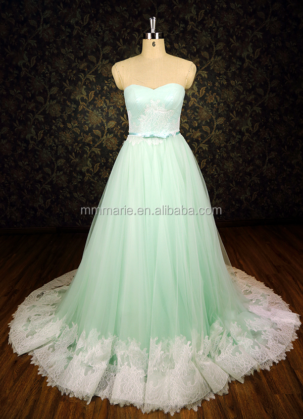 New Latest Girls Fashion Ball Gown Lace Mint Green Colored ...