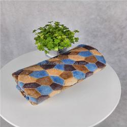 Alibaba china super soft warm lattice offset printing coral fleece