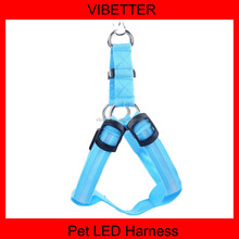 China wholesale metal color safety dog pet harness led dog studded body harness