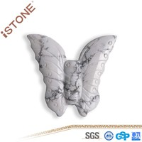New Howlite Butterfly Figurine Natural Gemstones And Semi Precious Stones Carved For Feng Shui Healing Reiki