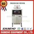 Aço inoxidável gás pressão frango frigideira com óleo bomba& filtro