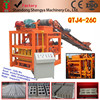 QTJ4-26C vacuum extruder automatic cement brick block machine with cement mixer