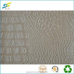 crocodile embossed fabric PVC leather for handbag
