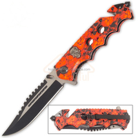 8.5 Inch quality stainless steel survival pocket folding knife with jungle knife