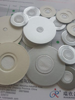 Induction vent seal liner for containers releasing gas