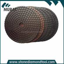 Black or Brown Resin-Cooper Bond Diamond Polishing Pads With Velcro 4 Inch 10mm
