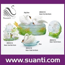 New products best selling elegant resin pair swan models art decoration love chrismas gift