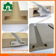Supermarket/hospital/restaurant display stand queue management system with slatwall/aluminum post/E1 grade MDF board