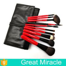 10pcs per set wool hair make up brush set eyeliner brush