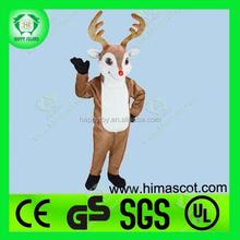 Merry christmas!! Hi ce yılbaşı geyiği maskot kostüm, yılbaşı yetişkin geyiği kostümü