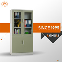 STEEL FURNITURE LUOYANG CHEAP METAL FILING CABINET WITH GLASS DOOR