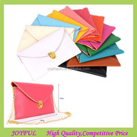 2015 Hot Selling 12 Colors Leather Envelope Clutch Bag at low price