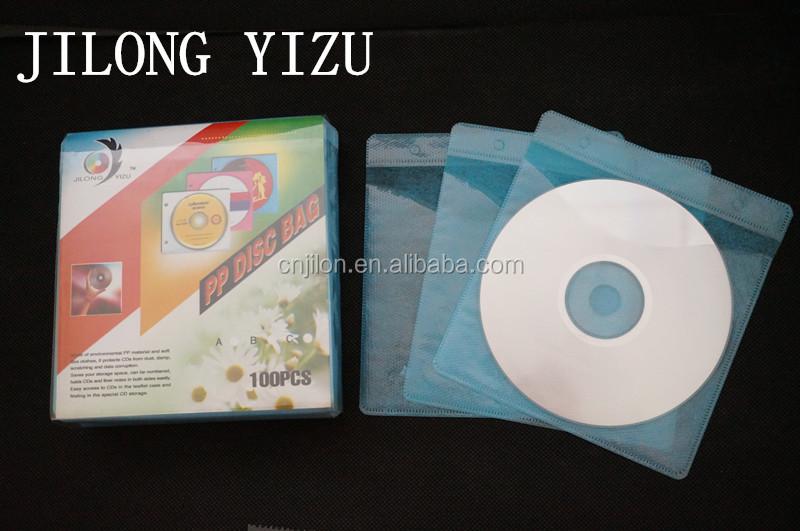 JILONG YIZU Brand Plastics PP+Non-woven CD Cover CD DVD Plastic Sleeve