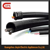 PA/PP/PE electrical plastic corrugated black colored flexible pvc tubing/hose