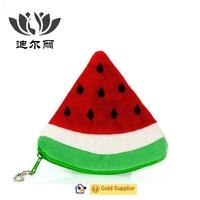 promotional smart lovely Kids/Girls fruit plush change purse