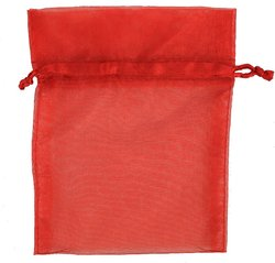 red plain organza bag cheap gift bags