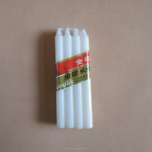 Good quality poly bag white candle exported to Africa