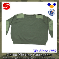 Elbow and Shoulder patched Commando knitting Military Sweater