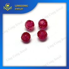 5# 7# 8# ruby ball faceted round gemstone beads