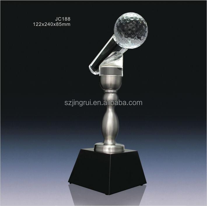 Creative Design Crystal Metal Microphone Trophy Jc188