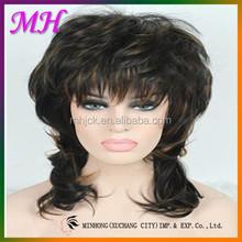 Europe Style Coconut Brown Short Curl High Temperature Fiber Wig