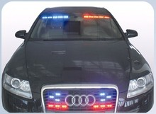 Police car light visor/grille strobe light and lightbar