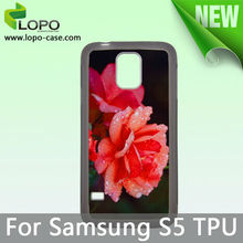 Custom design Sublimation silicone TPU phone case for Samsung Galaxy S5