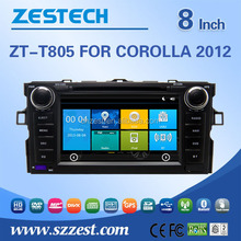 8inch digital touch screen dashboard placement double din car dvd player for Toyota Corolla 2012
