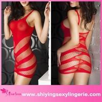 Pretty girls latest fashion Unique design transparent chemise lingerie