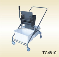 The top metal box for mops controlled by the handle, 2 PP plastic boxes for water cleaning,mop cleaning