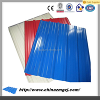 coated color metal roof tile/Chinese aluminium zinc sand coated steel roofing sheets