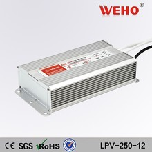 Factory outlet 250W waterproof 12v single output 20a supply power