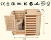 New Arrival Home Beauty Machine Folding Far Infrared Half Sauna For Weight Loss with Canada Hemlock (CE/RoSH/ISO)