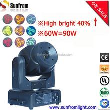 1500LUX@5M super brightness 60w led moving head spot light
