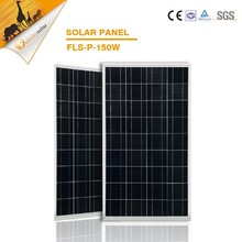 Solar panel price list with glass aluminum, for poly 150w solar panels