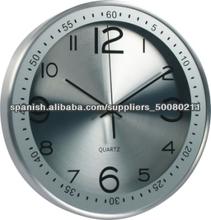 """La decoración del hogar moderno 12"""" de cuarzo ronda internacional de metal reloj de pared"""