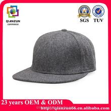 Flat brim custom snapback cap/fitted cap/print logo cap wool cap
