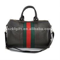 2012 Fashion brown PU leather traveling bag